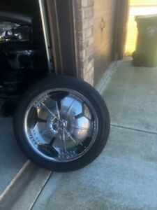 22 Inch Rims And Tires Used 4 Tires And Rims Total
