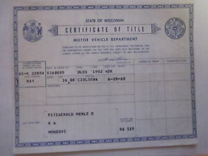 1952 Oldsmobile 4 Door Barn Find Historical Document