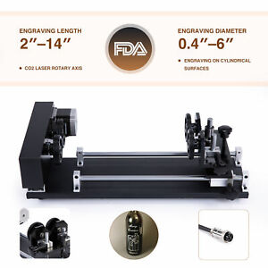 Barrel Rolling Platform Rotary Axis Attachment For Co2 Laser Engraver Above 50w