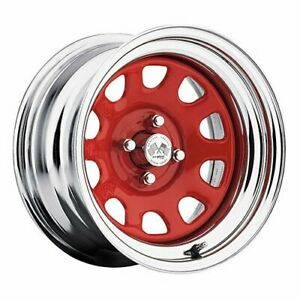 U S Wheel 022 5712prc Chrome Daytona Fwd Drifter Red 15 X 7 5 X 45 Bolt Circle