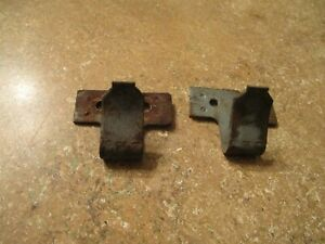 1949 1950 Ford Coupe Shoe Box Rear Upper Back Seat Mounting Clips Rat Rod Used