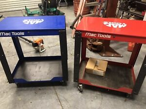 Mac Tools Utility Cart With Mac Tools Side Shelf Included