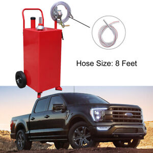 2 Way Rotary Pump 30 Gallon Can Manual Gas Caddy Fuel Container Tank W vented