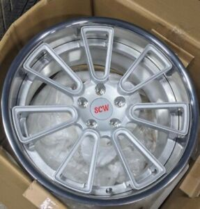 Scw 19x9 5 5x112 35 Offset 66 5 Center Bore Forged 2 Piece Wheel