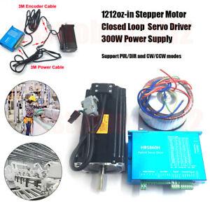 8 5nm Closed Loop Stepper Motor Nema34 Dsp Drive power Supply For Cnc X y Table