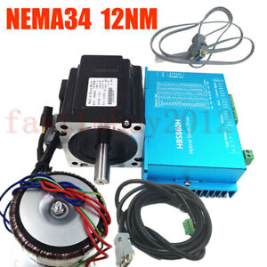 1714oz in Closed loop Stepper Motor 12nm Nema34 Dsp Drive power Supply pc Cable
