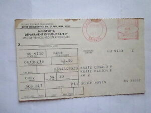 1954 Chevrolet 2 Door Barn Find Historical Document