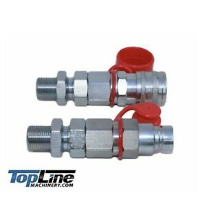 Tl26 5 8 Orfs Flat Face 1 2 Hydraulic Quick Connect Coupler Bulkhead Skid Steer