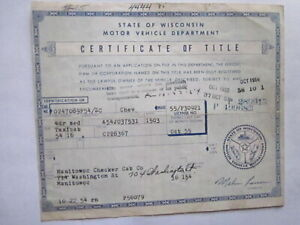 1954 Chevrolet Taxicab Barn Find Historical Document