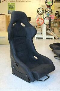 Snc Z2 Racing Full Bucket Fixed Back Seat Black Suede And Carbon Fiber Shell