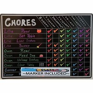 Chore Charts For Kids Multi Use Magnetic Dry Erase Board Responsibility Behavior
