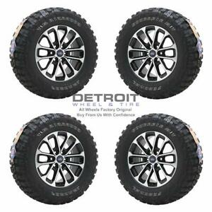 18 Ford F150 Machined Black Wheels Rims Tires Oem Set 4 2018 2020 10169