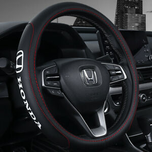 15 Car Steering Wheel Cover Genuine Leather For Honda