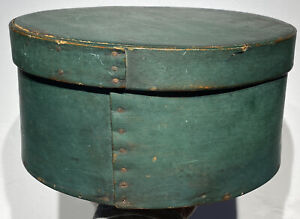 Early 1800 S Antique Exceptional Green Pantry Box 10 Original Paint Fantastic