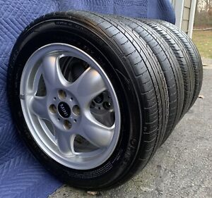 4 Oem Mini Cooper Clubman Wheels Rims Tires 71183 6768498 15 Nice Condition