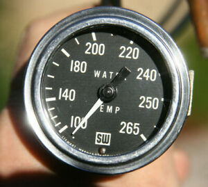Stewart Warner 2 1 16 Vintage Mechanical Water Temperature Gauge