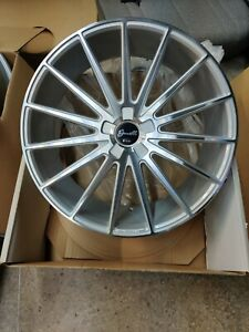 Gianelle Verdi Silver Wheels 22x9 For Any Car suv Forgiato Asanti Lexani Vossen