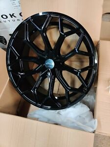 4 Gianelle Monte Carlo Wheels Black 24x10 Mercedes Urus Porsche Chevy Giovanna
