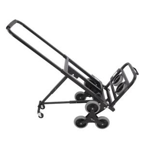 New Stair Climbing Moving Dolly Hand Truck Warehouse Appliance Cart Black 330lbs