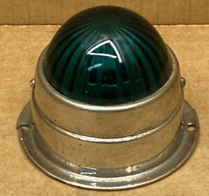 Vintage Blue Green Glass Marker Clearance Light Plane Boat Auto Hot Rod