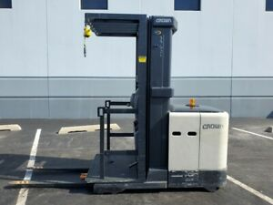 2008 Crown Sp3505 30 Electric Narrow Aisle Lift Forklift Reach Truck