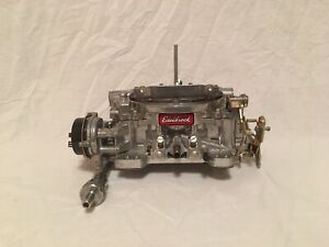 Edelbrock Carburetor And Intake Along With A Spectre Air Filter