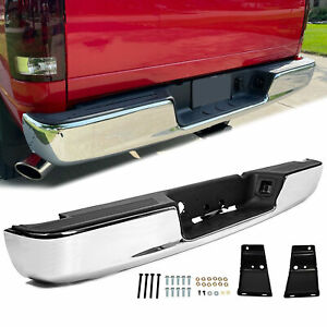 Steel Step Bumper Assembly W License Plate Light For 03 09 Dodge Ram 2500 3500