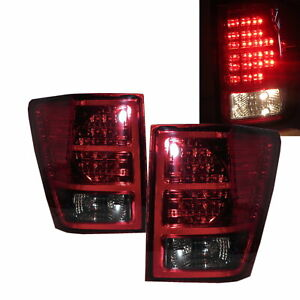 Grand Cherokee Wk Mk3 2007 2009 Suv 5d Led Tail Rear Light Red Smoke For Jeep