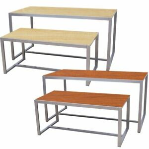 Two Tier Table Store Retail Furniture