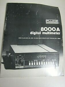 Fluke Model 8000a Digital Multimeter Instruction Manual 347906 Rev 1 5 79