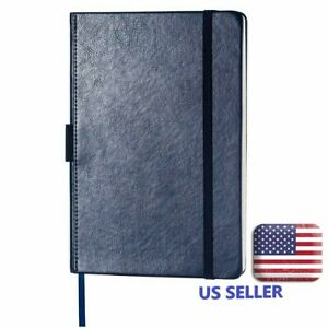 Blue Thick Notebook With Pocket Pen Loop page Dividers banded 56 Or 100 Pages
