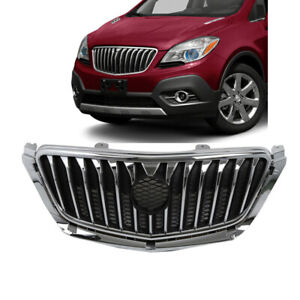 Fits 2013 2016 Buick Encore Front Upper Grille Chrome