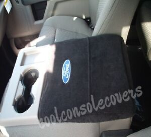 Fits 2011 2020 Ford F150 Black Cotton Terry Velour Center Console Cover