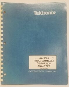 Instruction Manual Tektronix Aa5001 Programmable Distortion Analyzer Preliminary
