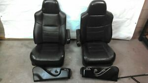 2005 2007 F250 F350 Super Duty Lariat Black Leather Driver Passenger Seats