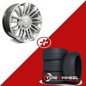 26 Diamond Style Hyper Silver Wheels W tires Fits Cadillac Escalade Esv Ext