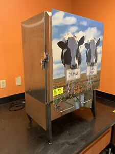 Silver King Dual Valve Milk Dispenser Refrigerated Tested Working