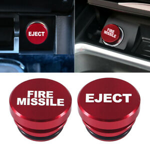 Fire Missile Eject Button Car Cigarette Lighter Cover 12v Universal Accessories