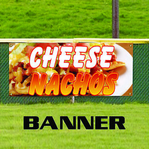 Cheese Nachos Chips Mexican Food Unique Novelty Indoor Outdoor Vinyl Banner Sign