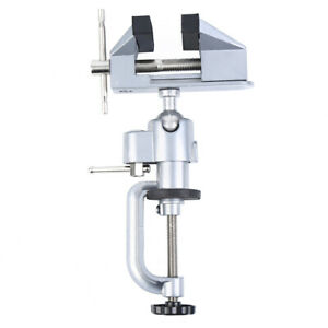 3 Jaws Aluminum Table Bench Top Vise Vice Universal Swivel Clamp Woodworking