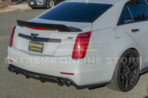 Primer Black Carbon Package Rear Wing Wickerbill Spoiler For 14 19 Cadillac Cts