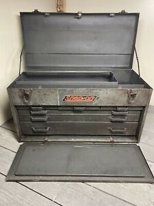 Vintage Snap On 1950 s Upper Toolbox 6 Drawer Excellent Patina 26 X 15 X 12