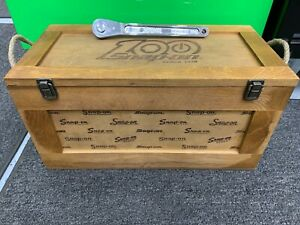 Snap On Tools New 100 Year Anniversary Wood Crate Box Remake No7 Ratchet Lot Set
