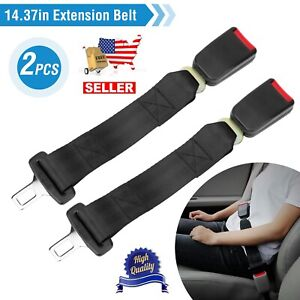 2pcs Universal 14 Car Seat Belt Extender Seat Seatbelt Safety Auto Belt Clip