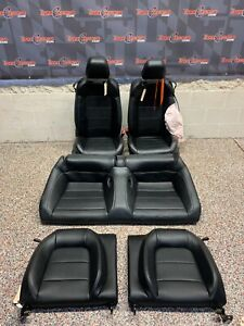 2016 Ford Mustang Gt Oem Black Leather Front Rear Seats Coupe