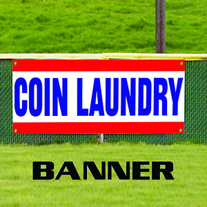 Coin Laundry Fold Washing Machine Novelty Indoor Outdoor Vinyl Banner Sign