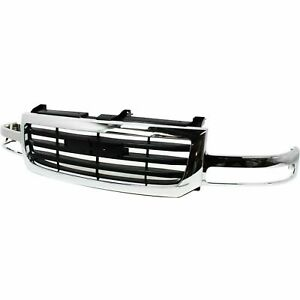 New Gm1200475 Front Grille Chrome Plastic For Gmc Sierra 1500 2003 2006