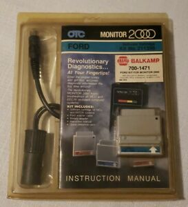 Monitor 2000 Software Ford Cartridge And Cable For 81 86 Otc In Box 700 1471