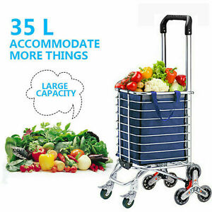 Us folding Shopping Cart Climbing Trolly Waterproof Grocery Laundry Utility H 11