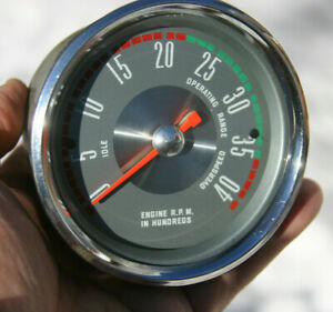 57 60 Ford Truck Vintage Silver 4k 4000 Rpm Tachometer